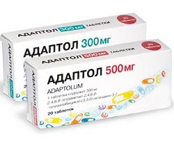 Tabletten Adaptol 300 und 500 mg
