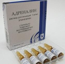 Lösung für die Injektion von Adrenalin