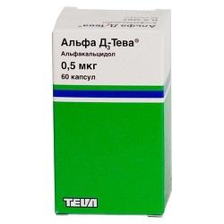 Alpha D3-Teva Kapseln 0,5 mcg