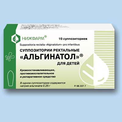 Rektalsuppositorien Alginatol