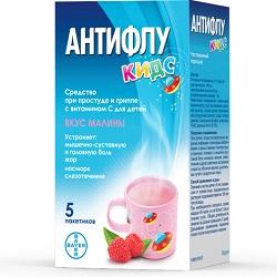Antiflu Kids mit Himbeergeschmack für Kinder ab 2 Jahren