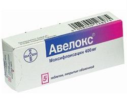 Überzogene Tabletten Avelox 400 mg