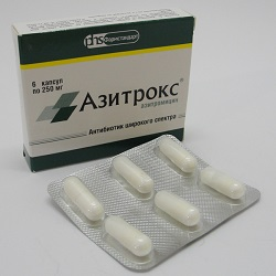 Azitroks 250 mg Kapseln