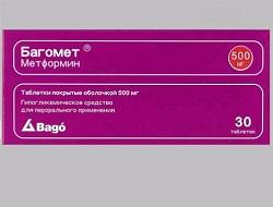 Bagomet in Tabletten von 500 mg