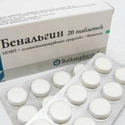 Entzündungshemmendes Medikament Benalgin