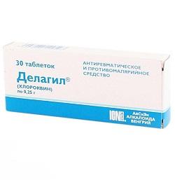 Antirheumatikum und Antimalariamittel Delagil