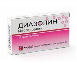 Dragee Diazolin 100 mg