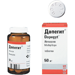 Tabletten Dopegit 250 mg