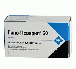 Vaginal Zäpfchen Guinho-Pevaril in einer Dosis von 50 mg