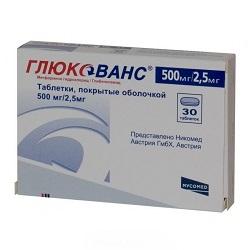 Glucovan Tabletten 500 mg / 2,5 mg
