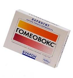 Heilmittel für Laryngitis Homeovox