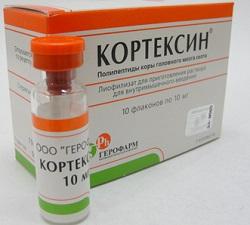 Cortexin in einer Dosis von 10 mg