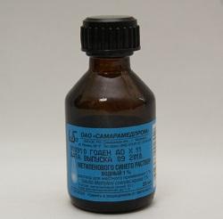 Methylenblau-Wasser-Lösung