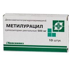 Rektalsuppositorien Methyluracil